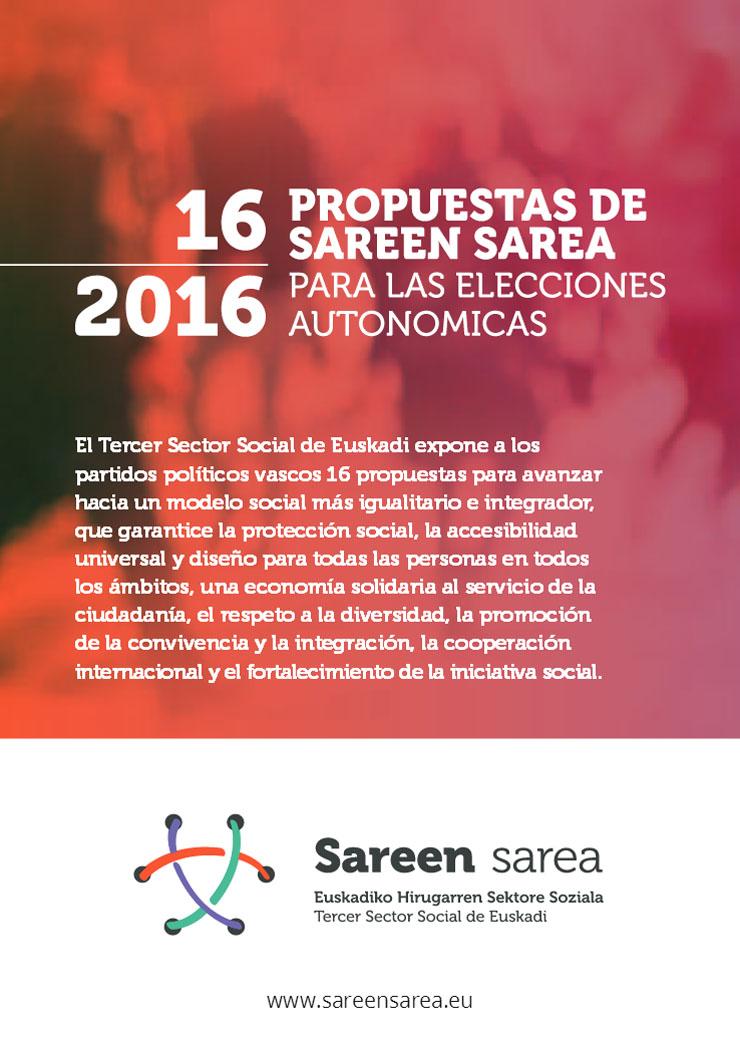 16 Propuestas para las elecciones de Euskadi 2016