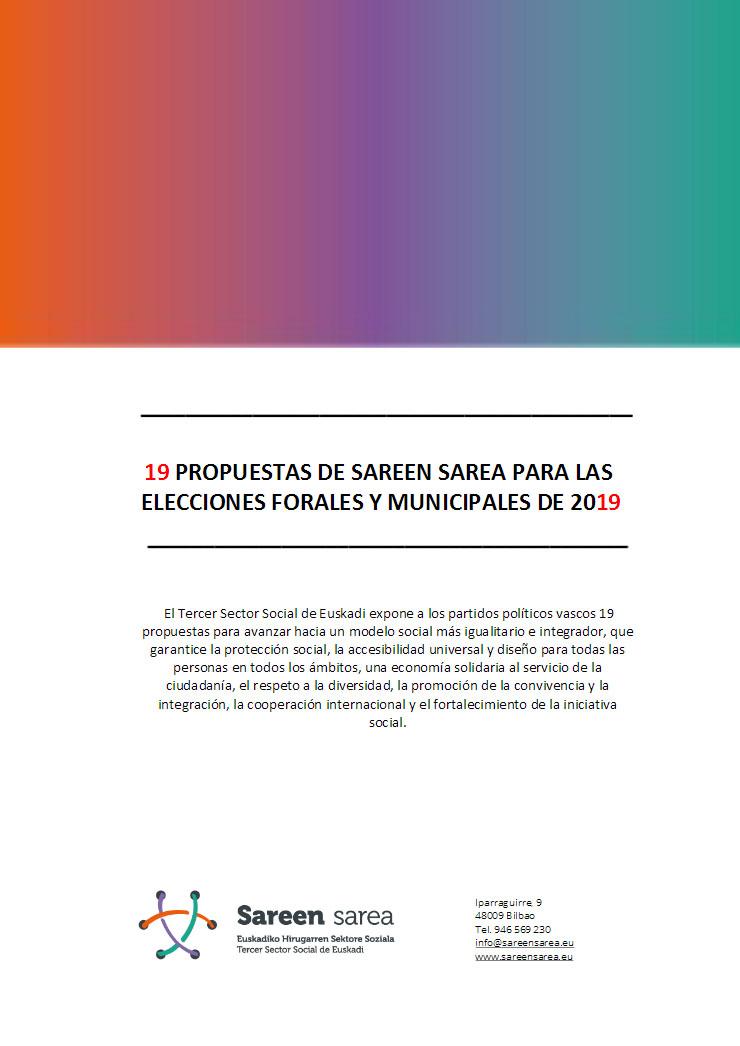 19 Propuestas Elecciones Municipales y Forales de Euskadi 2019