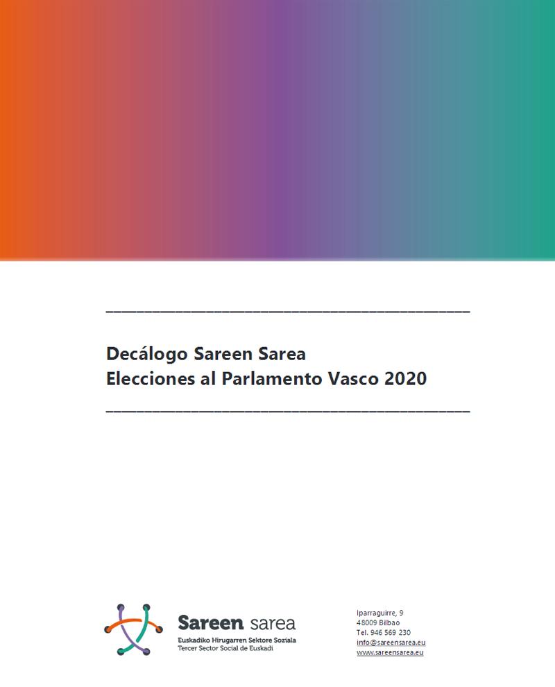 Decálogo Propuestas Elecciones Autonómicas Euskadi 2020