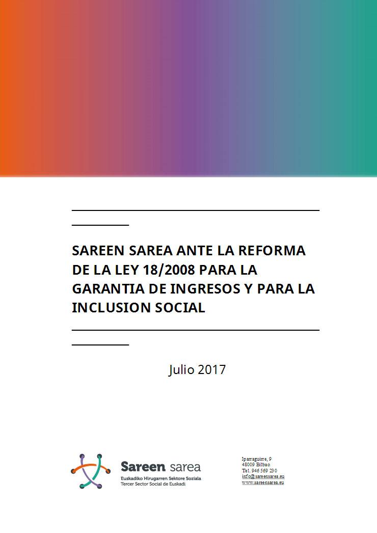 Posicionamiento de Sareen Sarea ante la reforma del RGI 2017