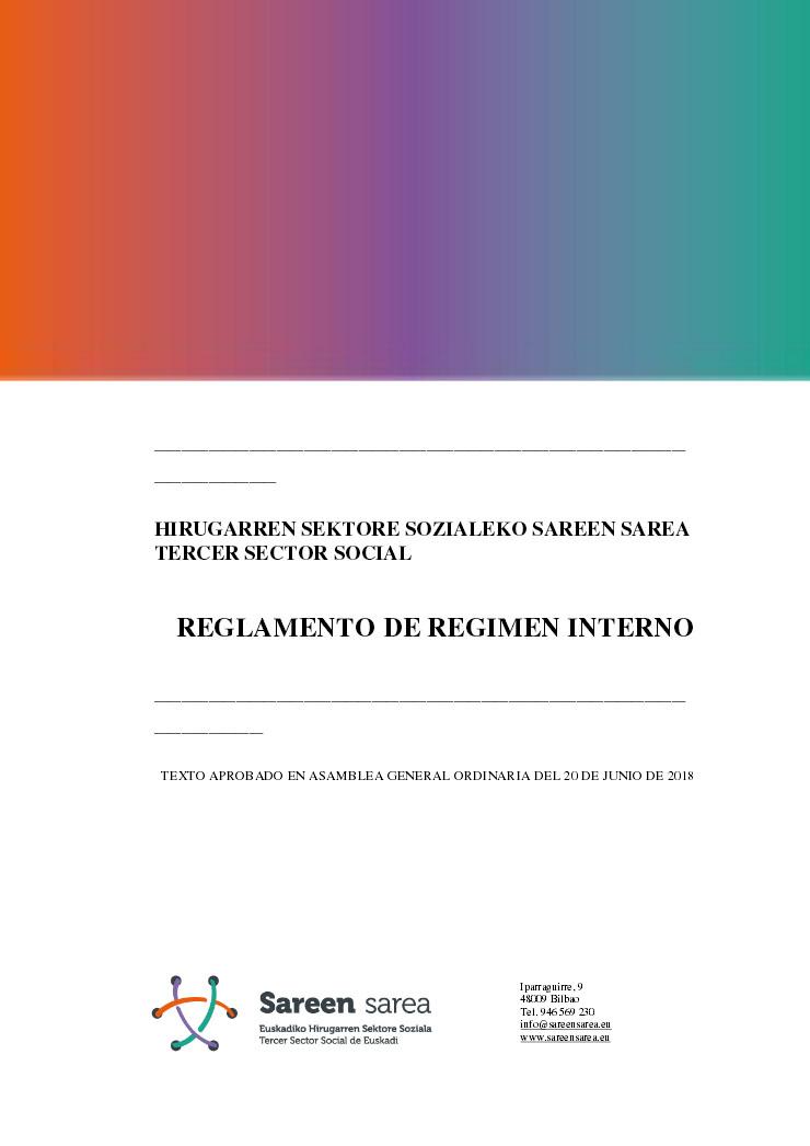 Reglamento de Régimen Interno de Sareen Sarea 2018