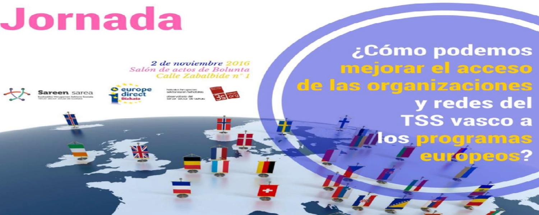 Cartel jornada financiación europea