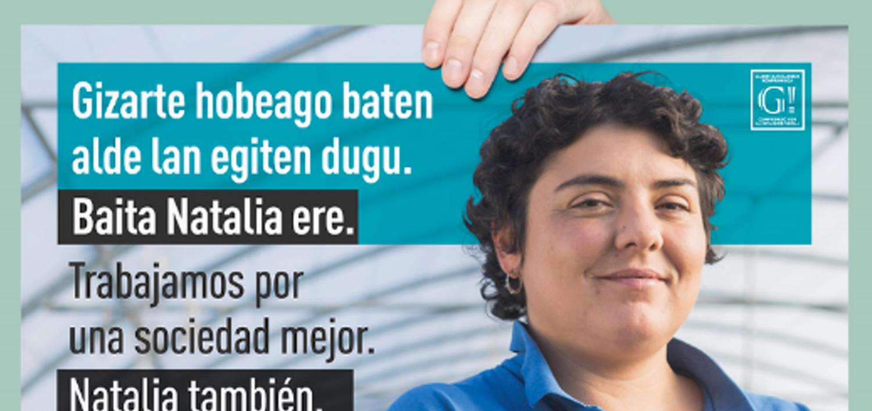 Foto cartel presentación campaña Gizatea