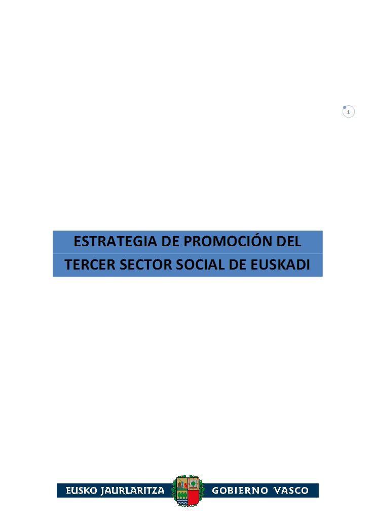Estrategia de Promoción del Tercer Sector Social de Euskadi