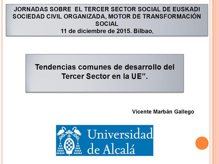 Vicente Marbán aurkezpena: UEko Hirugarren Sektorearen garapenaren ohiko joerak
