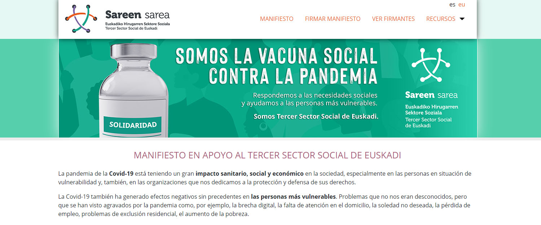 Manifiesto en apoyo al Tercer Sector Social de Euskadi