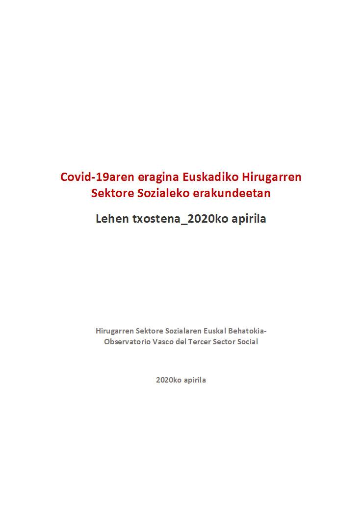 Covid-19aren erragina Euskadiko Hirugarren Sektore Sozialeko erakundeetan