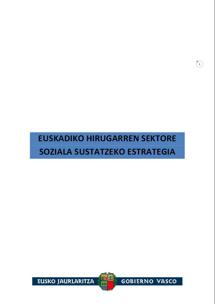 Euskadiko Hirugarren Sektore Soziala Sustatzeko Estrategia