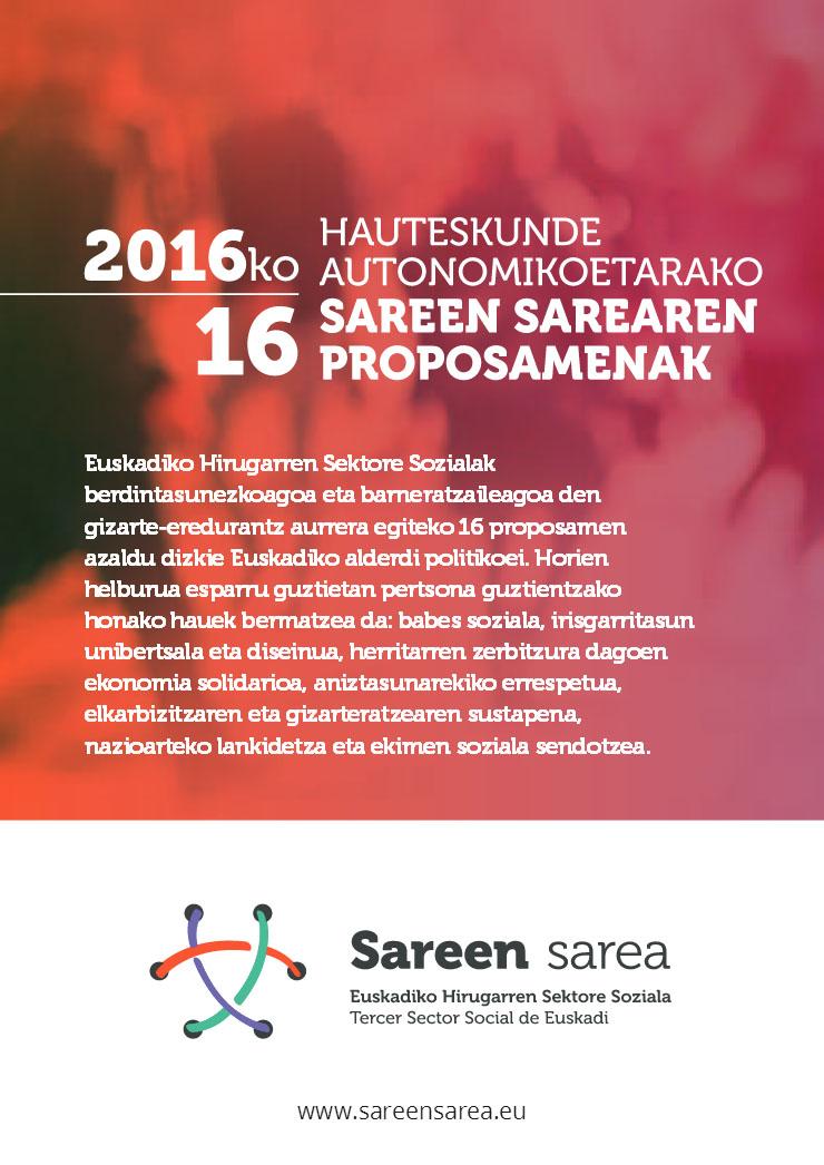 2016ko Euskadiko hauteskundeetako 16 proposamenak