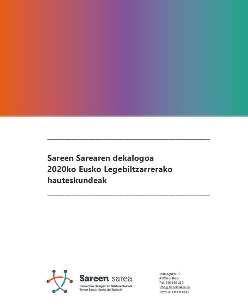 SAREEN SAREAren Dekalogoa 2020ko Hauteskundeetarako