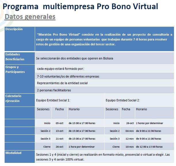 Datos generales Programa Pro-bono Cebek